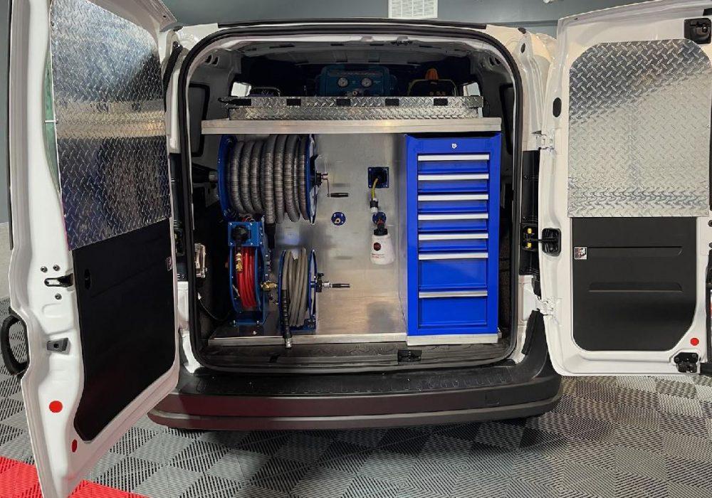 mobile detailing setup